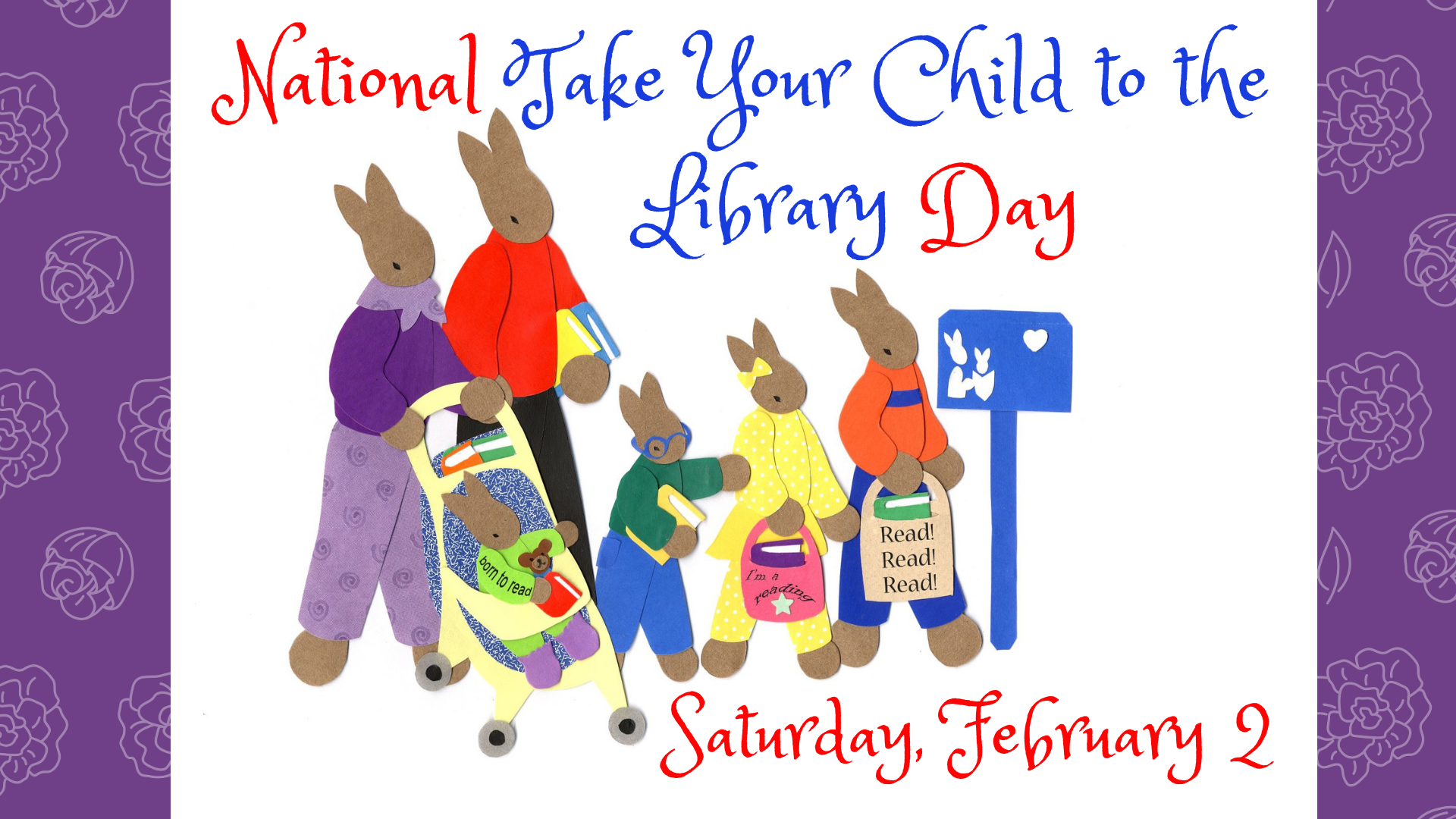 Image result for take your child to the library day 2019